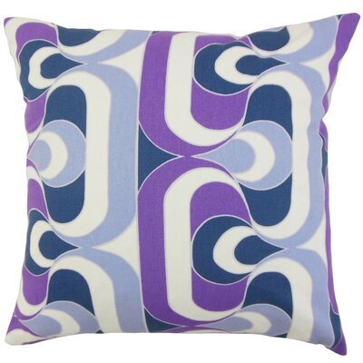 Nairobi Geometric Throw Pillow Cover Color: Plum