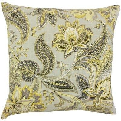 Gitana Floral Throw Pillow Cover Color: Gold Silver