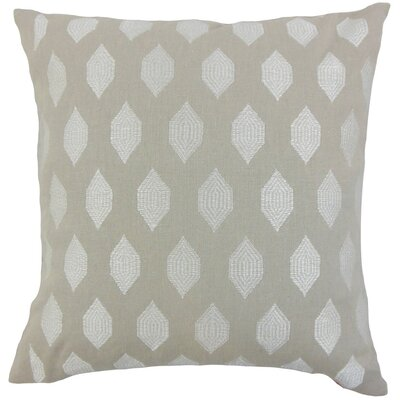 Gal Geometric Throw Pillow Cover Color: Stone