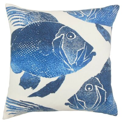 Lael Outdoor Throw Pillow Cover Color: Cobalt