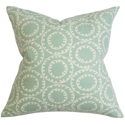 Yowanda Geometric Cotton Throw Pillow Cover Color: Blue