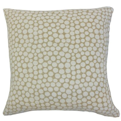 Elif Polka Dot Linen Throw Pillow Cover Color: Sand