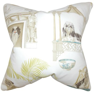 Colesville Animal Print Cotton Throw Pillow Cover