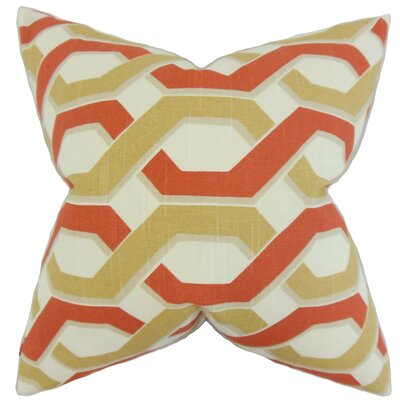 Chauncey Geometric Cotton Throw Pillow Cover Color: Russett