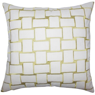 Kalyca Geometric Throw Pillow Cover Color: Peridot