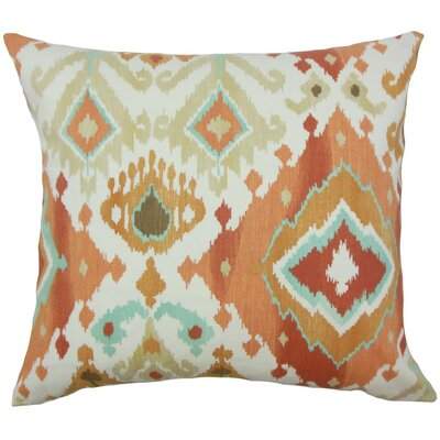 Gannet Ikat Cotton Throw Pillow Cover Color: Clay