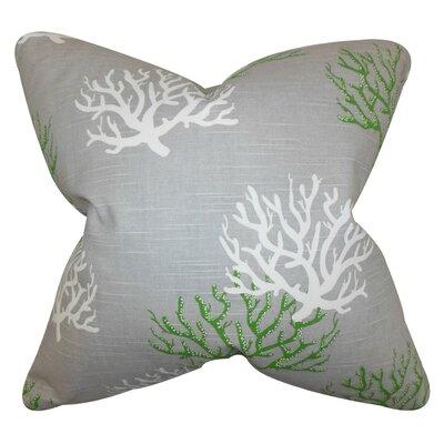 Hafwen Coastal Throw Pillow Cover Color: Gray Green