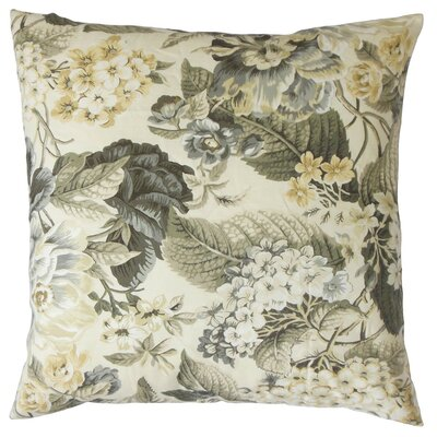 Kalonice Floral Cotton Throw Pillow Cover Color: Metal