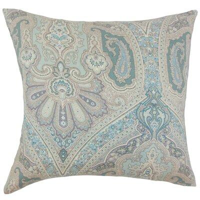 Kenia Damask Linen Throw Pillow Cover Color: Seaglass