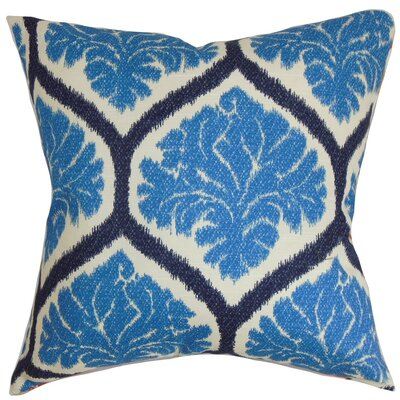 Priya Floral Cotton Throw Pillow Cover Color: Blue