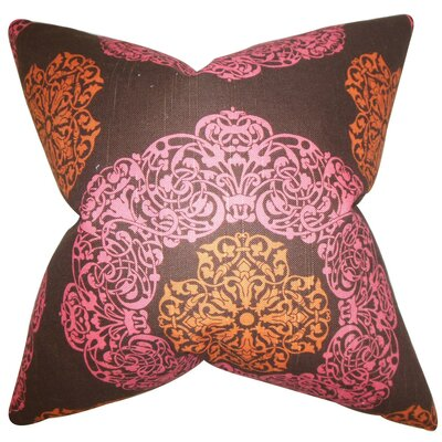 Ilona Geometric Cotton Throw Pillow Cover Color: Pink Brown