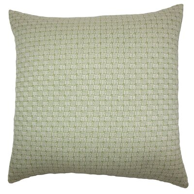 Nahuel Geometric Throw Pillow Cover Color: Green