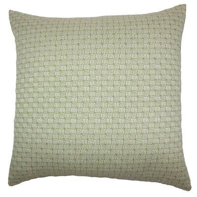 Nahuel Geometric Throw Pillow Cover Color: Green