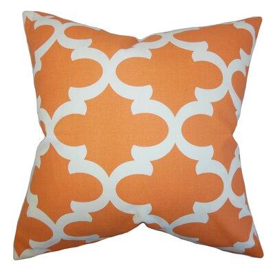 Titian Geometric Throw Pillow Cover Color: Orange