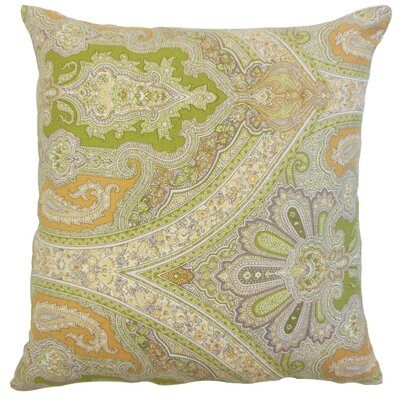 Delmare Damask Linen Throw Pillow Size: 18 x 18