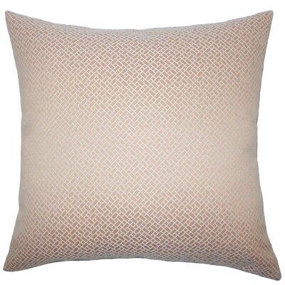 Pertessa Geometric Throw Pillow Cover Color: Blush
