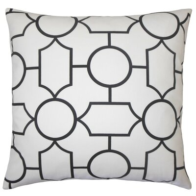 Samoset Geometric Cotton Throw Pillow Cover Color: Black