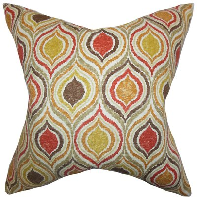 Xylon Geometric Cotton Throw Pillow Size: 18 x 18
