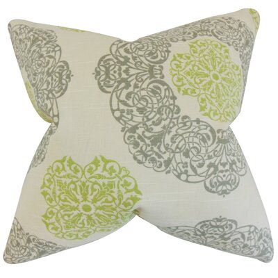 Ilona Geometric Cotton Throw Pillow Cover Color: Green