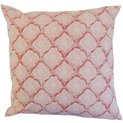 Chaney Geometric Square Throw Pillow Cover Color: Blush