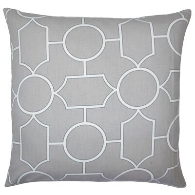 Samoset Geometric Cotton Throw Pillow Cover Color: Dove