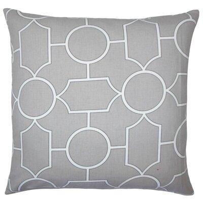 Samoset Geometric Cotton Throw Pillow Cover Color: Dove