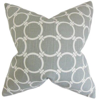 Betchet Geometric Cotton Throw Pillow Cover Color: Ash