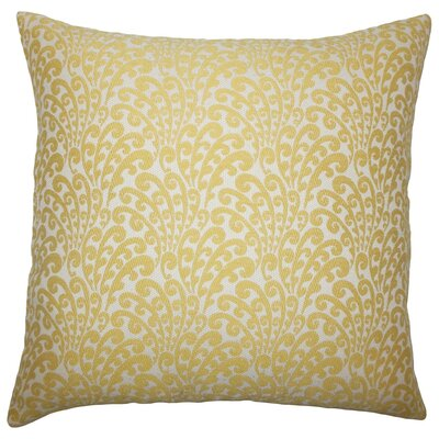 Ilkay Floral Throw Pillow Cover Color: Buttercup