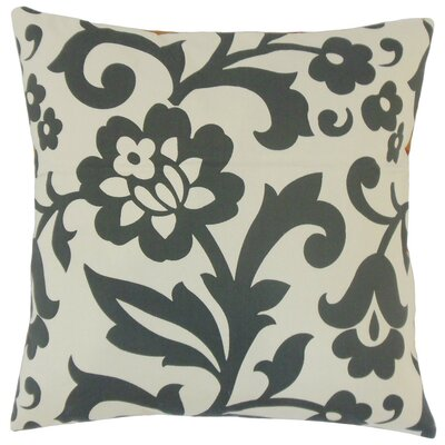 Fisseha Floral Cotton Throw Pillow Cover Color: Dove