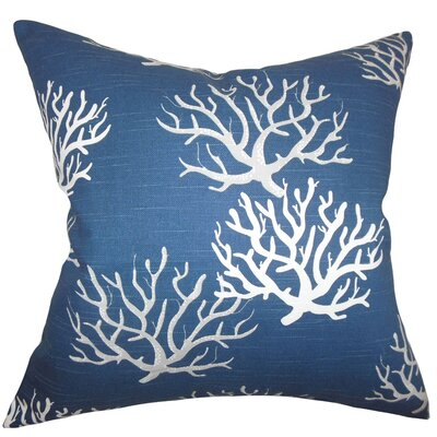 Hafwen Coastal Throw Pillow Cover Color: Navy Blue