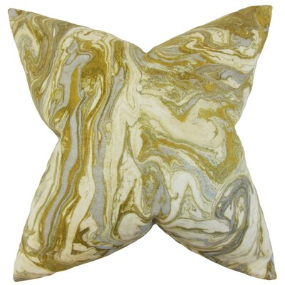 Ceylon Geometric Cotton Throw Pillow Cover Color: Gold Silver