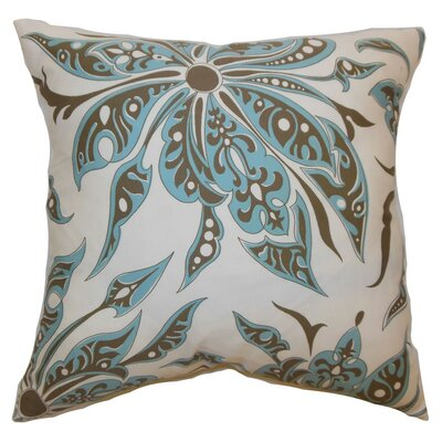 Baiamare Floral Cotton Throw Pillow Cover