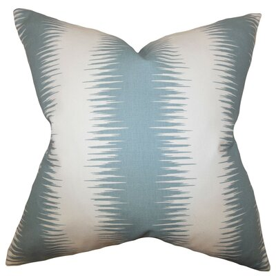 Harrell Geometric Square Cotton Throw Pillow Cover Color: Blue