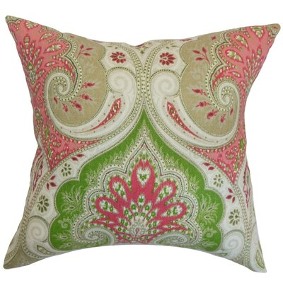 Yakutat Paisley Cotton Throw Pillow Size: 18 x 18