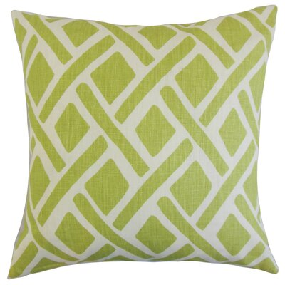 Buono Geometric Linen Throw Pillow Cover Color: New Leaf