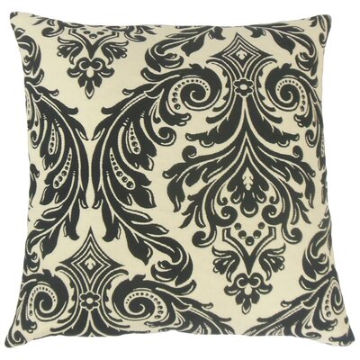 Jovita Damask Throw Pillow Cover Color: Onyx