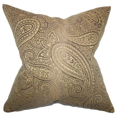 Cashel Paisley Throw Pillow Cover Color: Brown