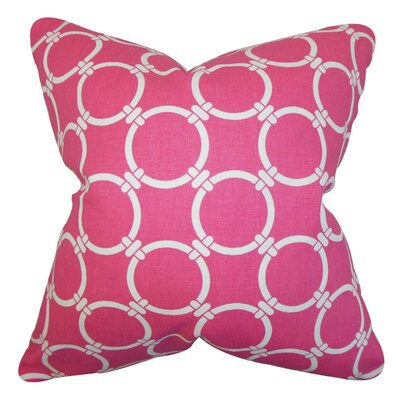 Betchet Geometric Cotton Throw Pillow Cover Color: Candy Pink
