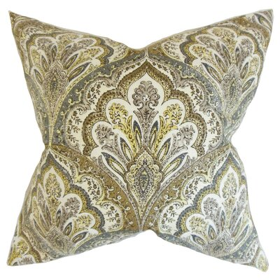 Xanthipe Paisley Cotton Throw Pillow Cover Color: Olive