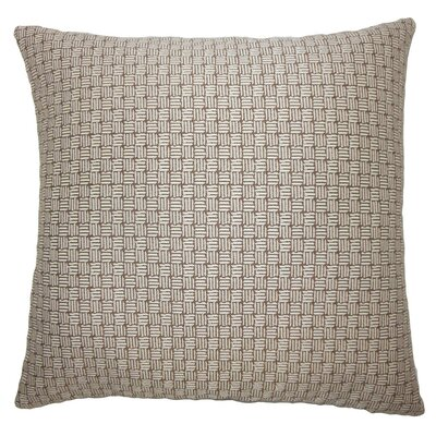Nahuel Geometric Throw Pillow Cover Color: Brown