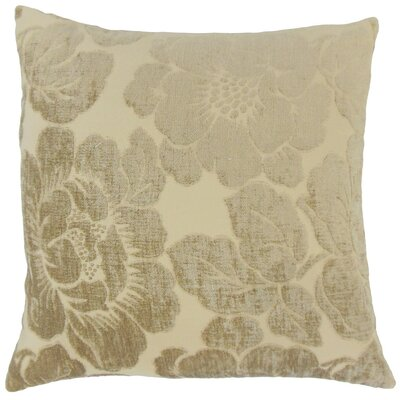 Sarafina Floral Throw Pillow Cover Color: Linen