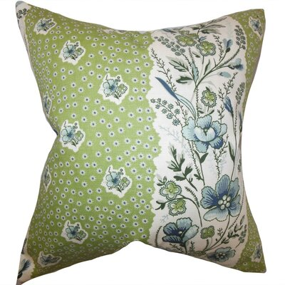 Elske Floral Throw Pillow Cover Color: Cactus Green