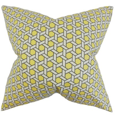 Ragan Geometric Cotton Throw Pillow Cover Color: Yellow