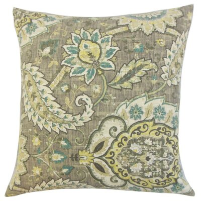 Harum Floral Throw Pillow Cover Color: Platinum