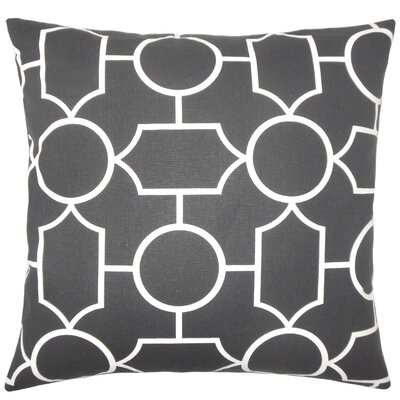 Samoset Geometric Cotton Throw Pillow Cover Color: Ebony