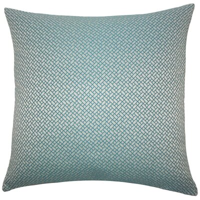 Pertessa Geometric Throw Pillow Cover Color: Teal