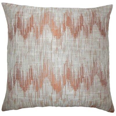 Fleta Ikat Throw Pillow Cover Color: Melon