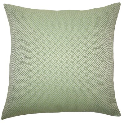 Pertessa Geometric Throw Pillow Cover Color: Green