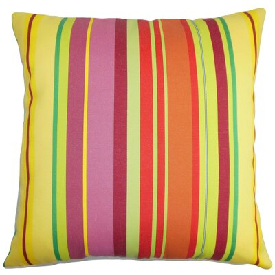 Laird Stripes Cotton Throw Pillow Cover Color: Yellow Orange