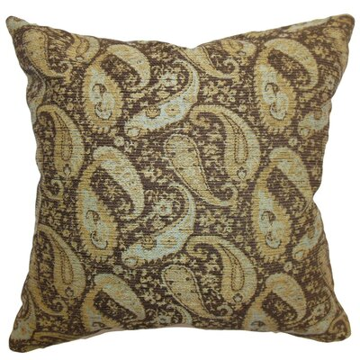 Aeldra Paisley Throw Pillow Size: 18 x 18